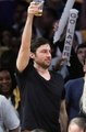 Zach Braff at a sports game
