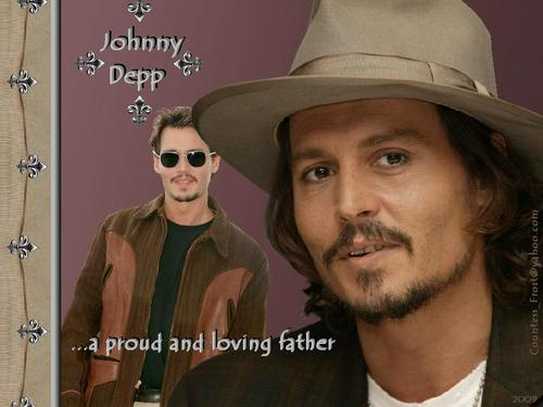 Johnny Depp wallpaper containing a fedora, a boater, and a campaign hat titled ...a proud and loving father