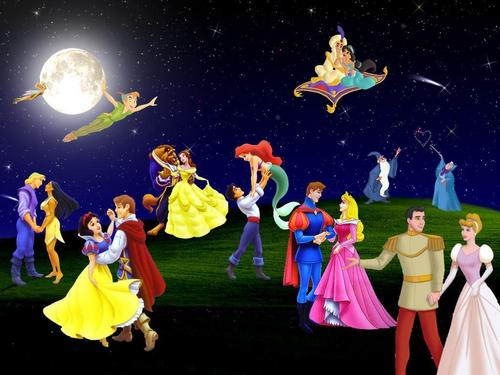 A Disney Dance - disney-couples Wallpaper