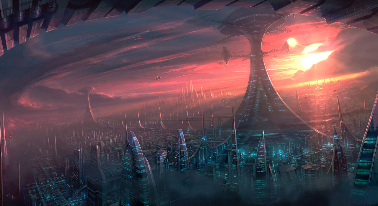 Science fiction alien city