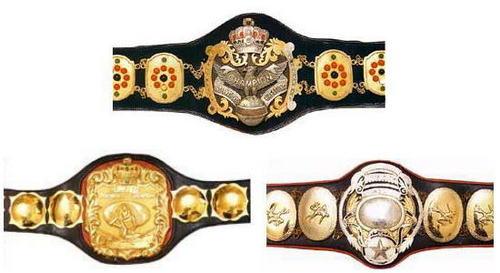 All-Japan Triple Crown Championship Belts