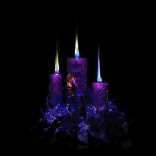 Krismas kertas dinding possibly with a mata air, air pancut entitled Beautiful animated candles