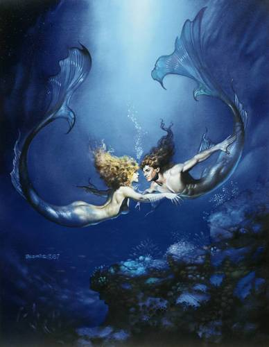 Boris Vallejo's PISCES The Fish - astrology Photo
