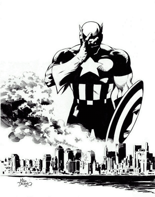 Captain America and the World Trade Center  - marvel-comics fan art