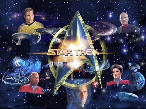 Star Trek-The Next Generation wallpaper probably containing a concert and anime titled Crew