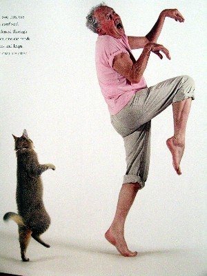 Dancing Man And Cat
