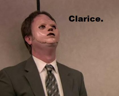 Dwight as Hannibal Lecter