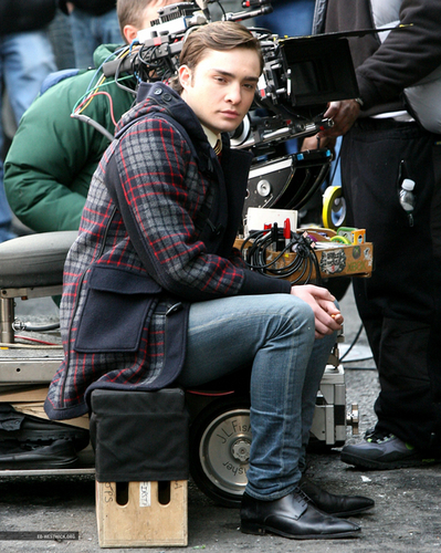 Ed on the set of GG