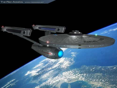 Star Trek: The Original Series wallpaper with a turntable entitled Enterprise-A