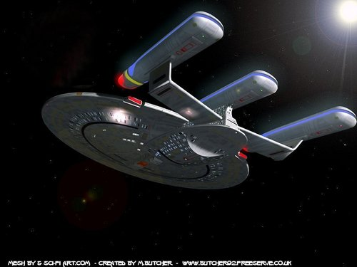 Star Trek-The Next Generation wallpaper entitled Enterprise-D Refit