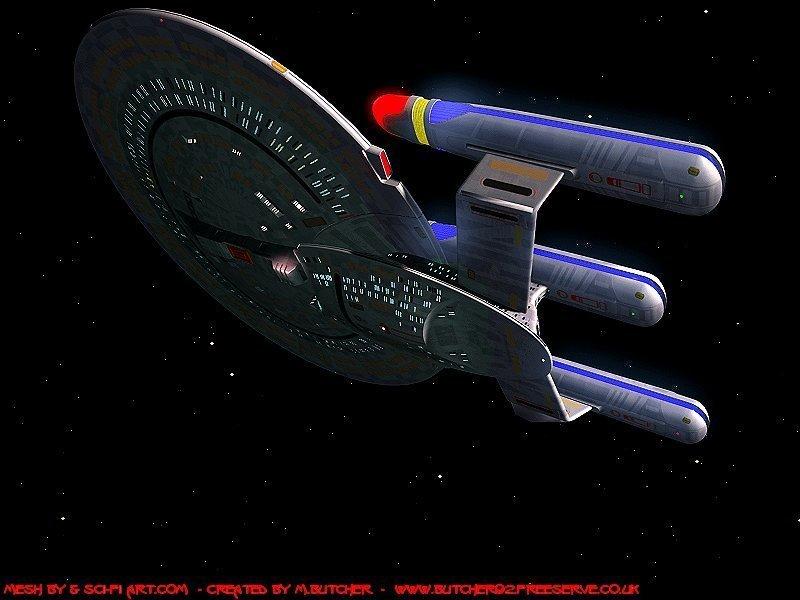 Star trek the next generation enterprise d refit