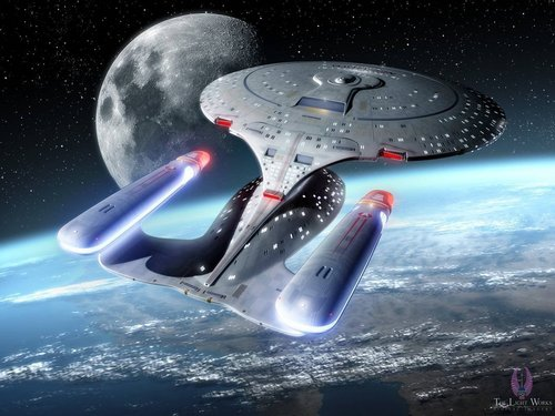 Star Trek-The Next Generation wallpaper entitled Enterprise-D