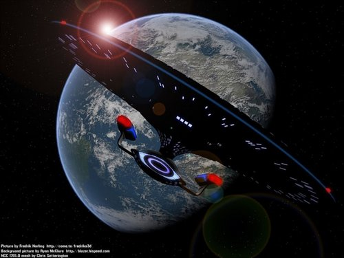 étoile, étoile, star Trek-The suivant Generation fond d'écran called Enterprise-D