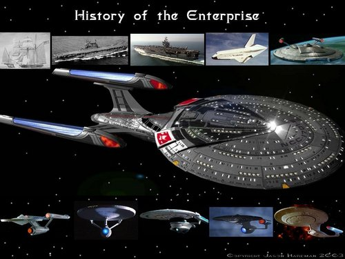Star Trek-The Next Generation wallpaper called Enterprise History