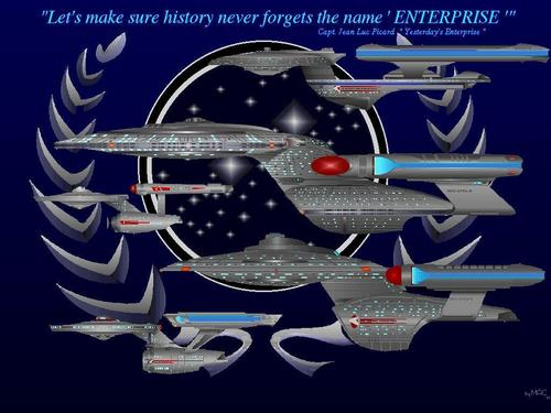 étoile, étoile, star Trek-The suivant Generation fond d'écran called Enterprise History