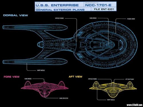 Star Trek-The Next Generation wallpaper called Enterprise Schematic