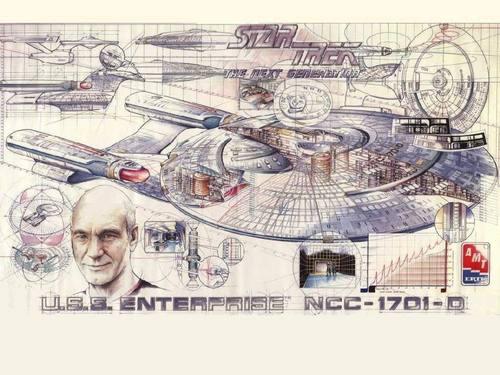 bintang Trek-The seterusnya Generation kertas dinding with Anime called Enterprise Schematic