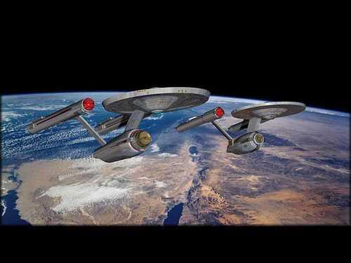 bintang Trek The Original Series kertas dinding titled Enterprise