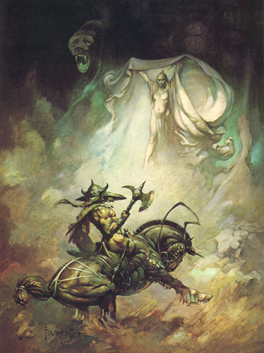 Fantasy wallpaper entitled Fantasy Art- Frank Frazetta (some nudity)