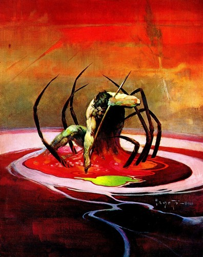 Fantasy wallpaper probably with a venus's flytrap entitled Fantasy Art- Frank Frazetta (some nudity)