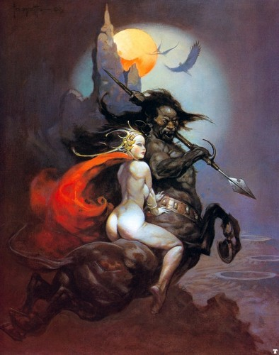 Fantasy wallpaper probably with a fire titled Fantasy Art- Frank Frazetta (some nudity)
