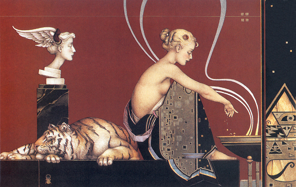 Sacred Fire II by Michael Parkes