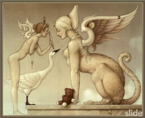 Fantasy Hintergrund entitled Fantasy Art- Michael Parkes (some nudity)