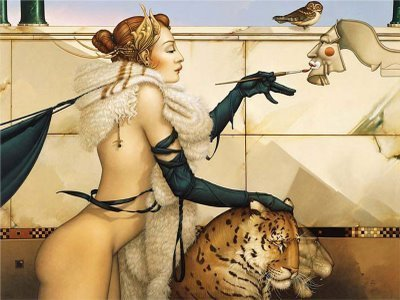 ফ্যান্টাসি Art- Michael Parkes (some nudity)