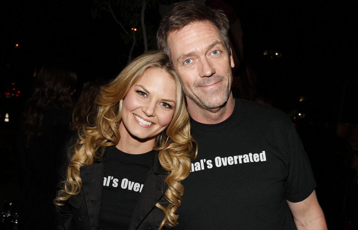Jennifer Morrison and her House co-star Hugh Laurie