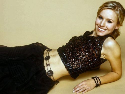 Kristen Bell wallpaper possibly with attractiveness, a bustier, and a lingerie entitled KB