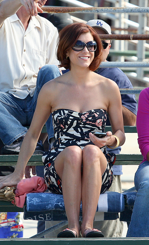 Kate on the Set of Private Practice
