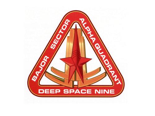 estrella Trek: Deep el espacio Nine fondo de pantalla entitled Logo