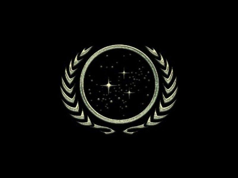 Logo Estrella Trek Deep El Espacio Nine Fondo De Pantalla