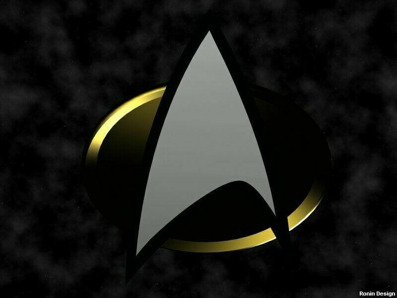 Logo étoile étoile Star Trek The Suivant Generation Fond