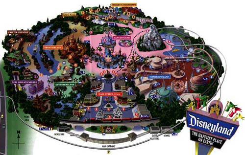 Map of Disneyland - disneyland Photo
