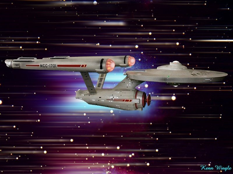 star trek ship wallpaper. NCC-1701 - Star Trek Wallpaper