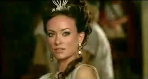オリヴィア・ワイルド 壁紙 containing a portrait entitled Olivia Wilde as Princess Inanna in 'Year One'