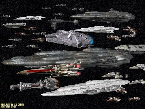 Star Wars wallpaper entitled Rebel Fleet