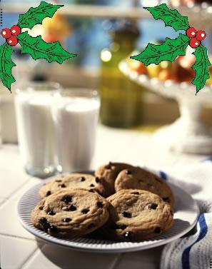 Santa's lait and biscuits, cookies