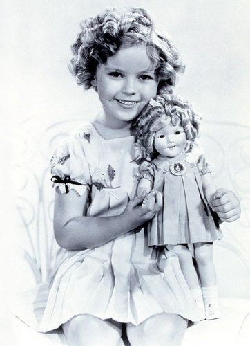 Shirley Temple with a Shirley Temple Doll