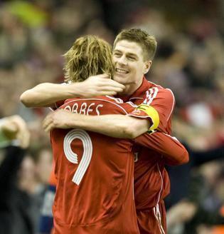 Steven Gerrard And Fernando Torres 바탕화면 titled Torres & Gerrard
