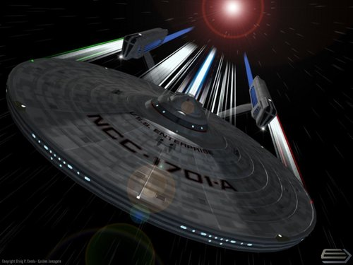 Warping through Space - star-trek Wallpaper