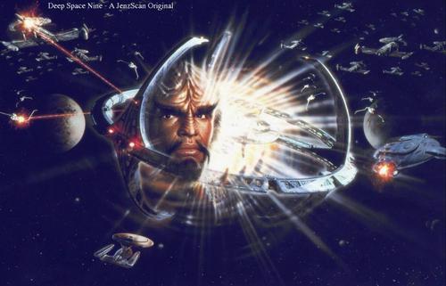 nyota Trek: Deep Space Nine karatasi la kupamba ukuta called Worf
