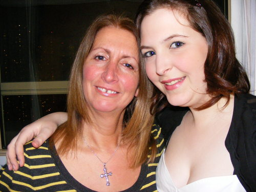 my mum and me getting ready to go out in new york