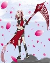 Haruno Sakura wallpaper possibly containing a parasol entitled sakura