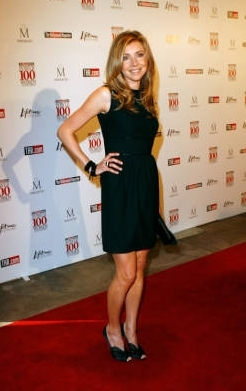 Sarah Chalke wallpaper probably with bare legs, a well dressed person, and a cocktail dress titled 17th Annual Women In Entertainment Power 100