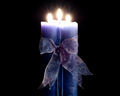 Blue candle wallpaper