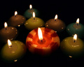 Round candles wallpaper