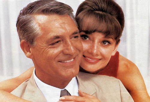 Cary Grant and Aurdry Hepburn