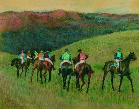 Degas - Race 马 in a Landscape